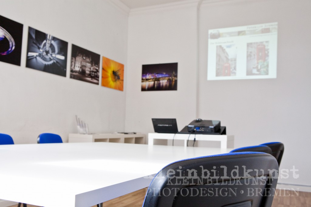 Fotokurs, Bremen, Fotoschule, kleinbildkunst, Seminarraum