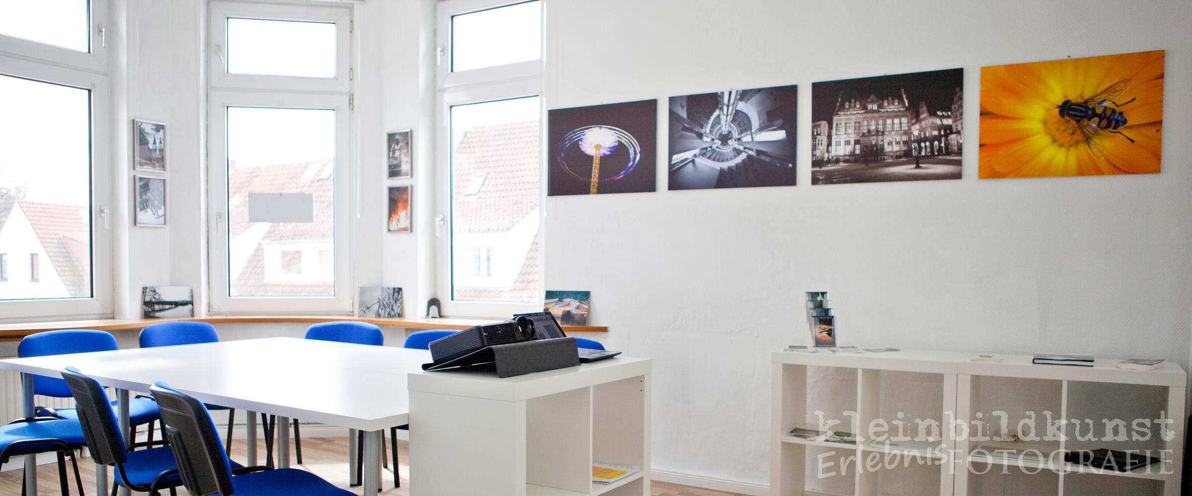 Fotoschule, Fotokurs, Bremen, Fotografieren lernen, Seminarraum
